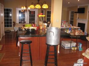 Kitchen befor bulk cooking