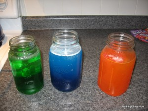 dying play silks quart jars of kool aid