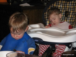 Colby and Nicholas sleeping