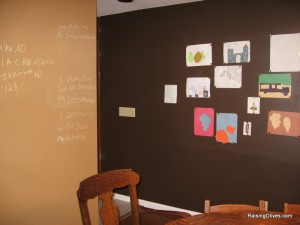 Chalkboard and magnetic wall