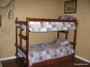 drawers under boys bunk bed