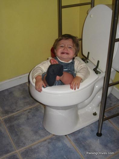Nicholas in toilet