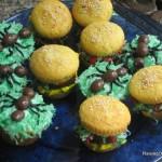 ant hamburger cupcakes