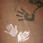 Bella's hand print tablecloth