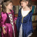 Sadie and Savannah Princess dress-up