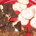 Heath Bars, Peppermint Meringues and Peanut Clusters