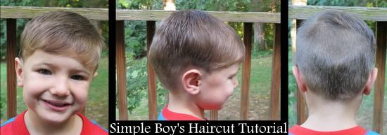 Simple Boy S Haircut Tutorial Raising Olives
