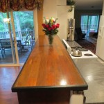 wooden wood counter top in kitchen dining room