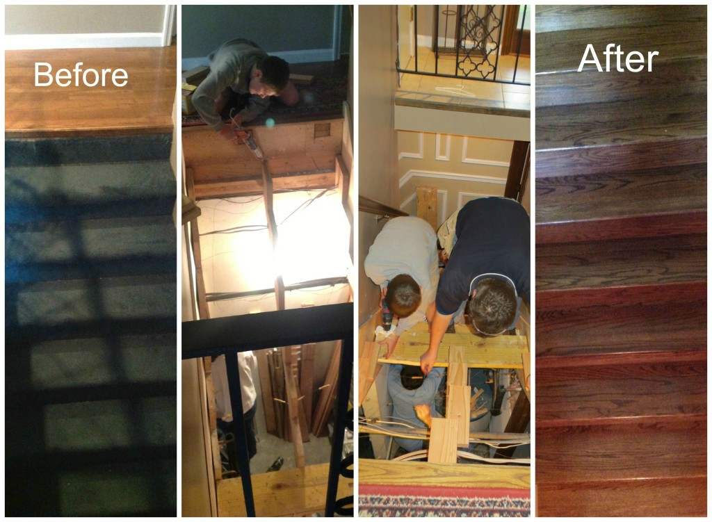 Stair collage
