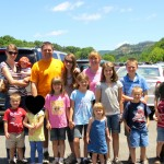 Family at Dollywood with foster kids