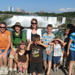 The kids at Niagra Falls, Canada