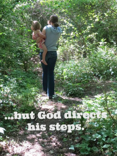 but God directs his steps