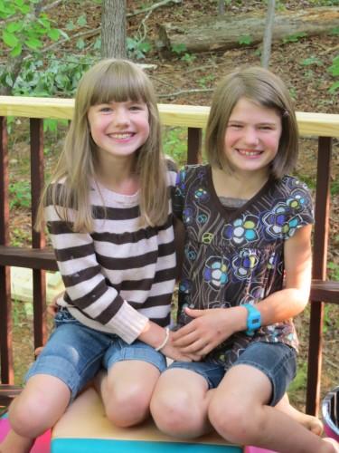 Savannah (9) and Sadie (10)