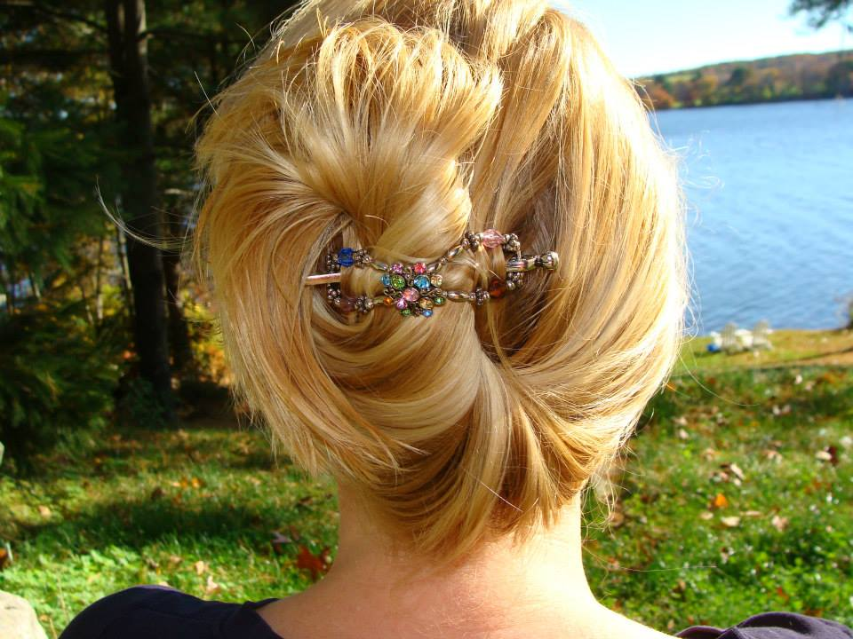 French twist with a flexi.