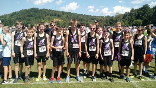 Boys middle school xc team.