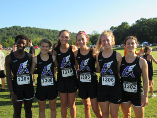 Girls varsity XC team